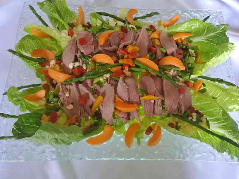 duck salad with apricot
